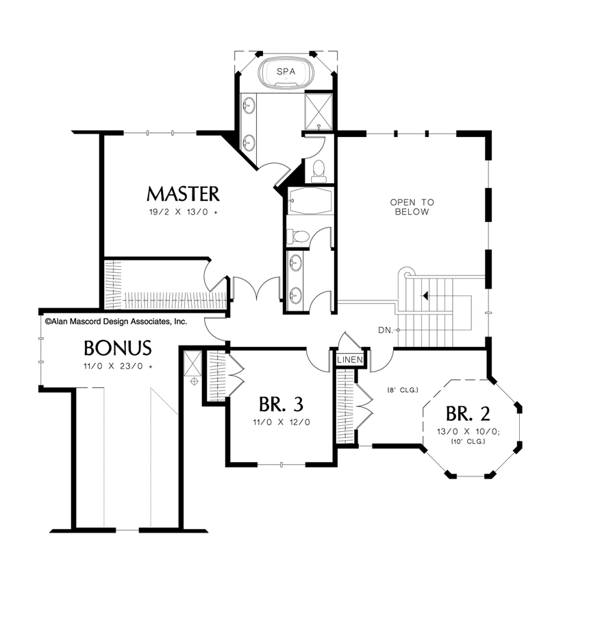 Country House Plan 22128 The Kensington: 2518 Sqft, 4 Bedrooms, 3 ...