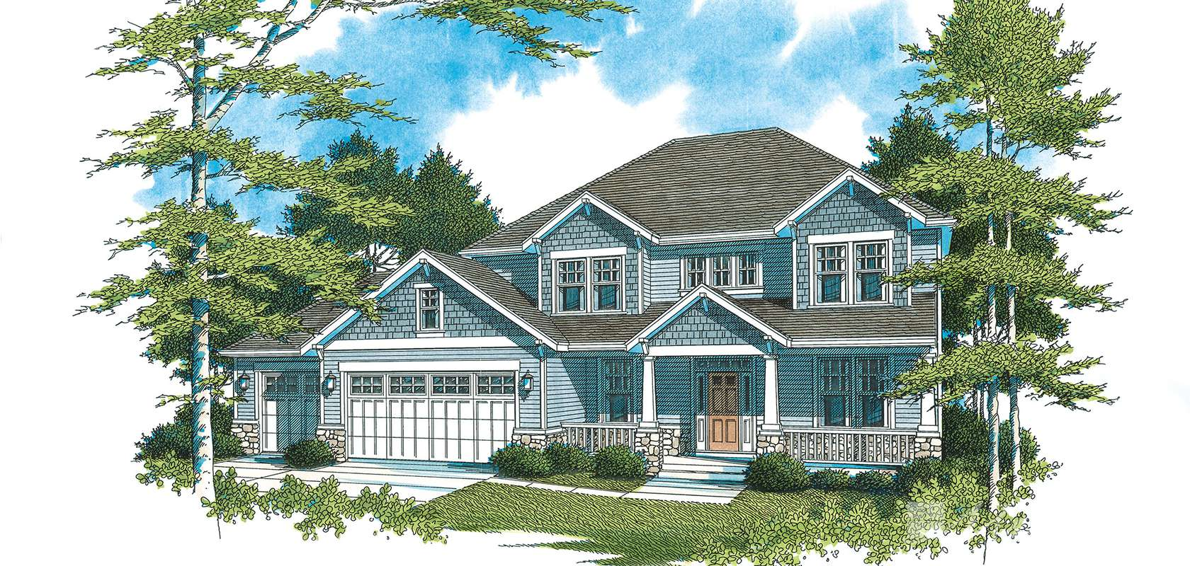 Mascord House Plan 2212GM: The Freemont