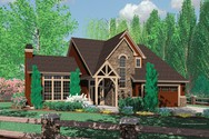 Front Rendering of Mascord House Plan 22132 - The Hackett