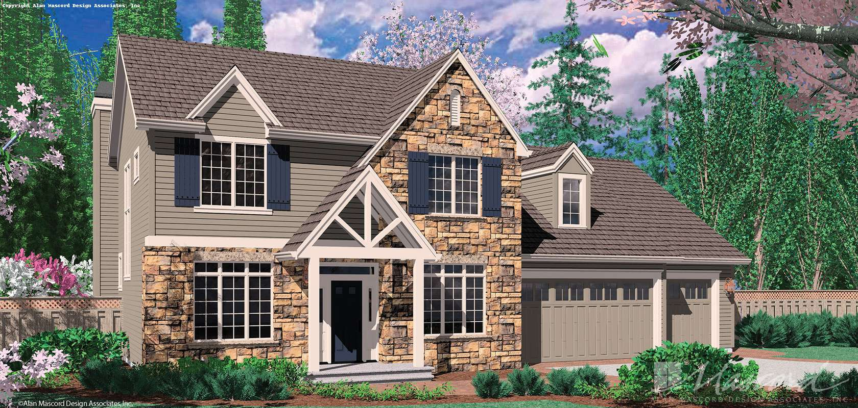 Mascord House Plan 22133: The Norton