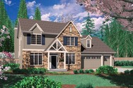 Front Rendering of Mascord House Plan 22133 - The Norton