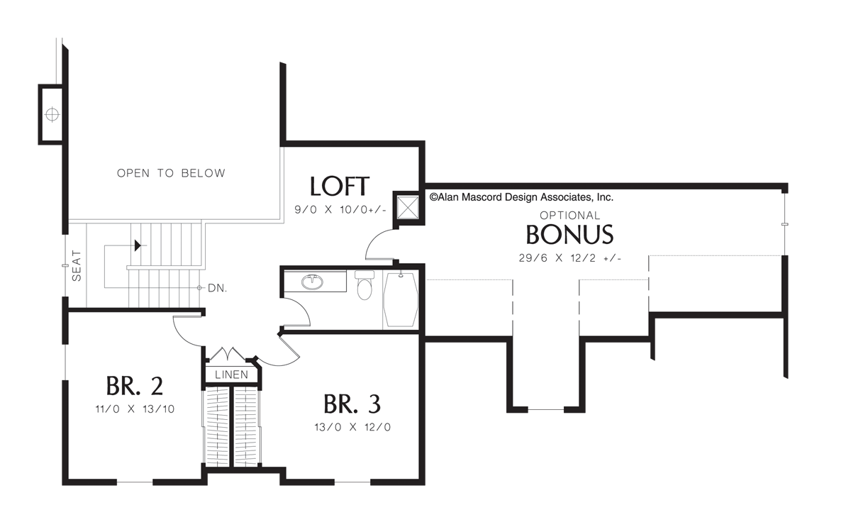 mascord house plan 22133a the merrill image for merrill country plan with vaulted master suite and loft area upper floor