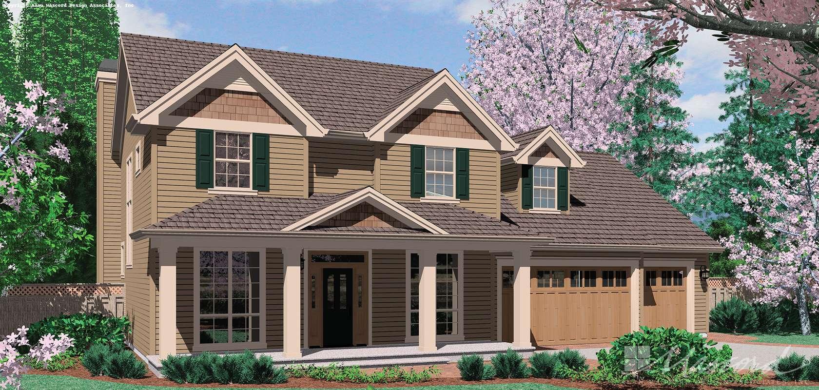 Mascord House Plan 22133A: The Merrill
