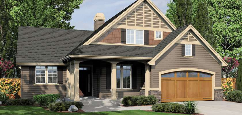 Mascord House Plan 22134A: The Hannah