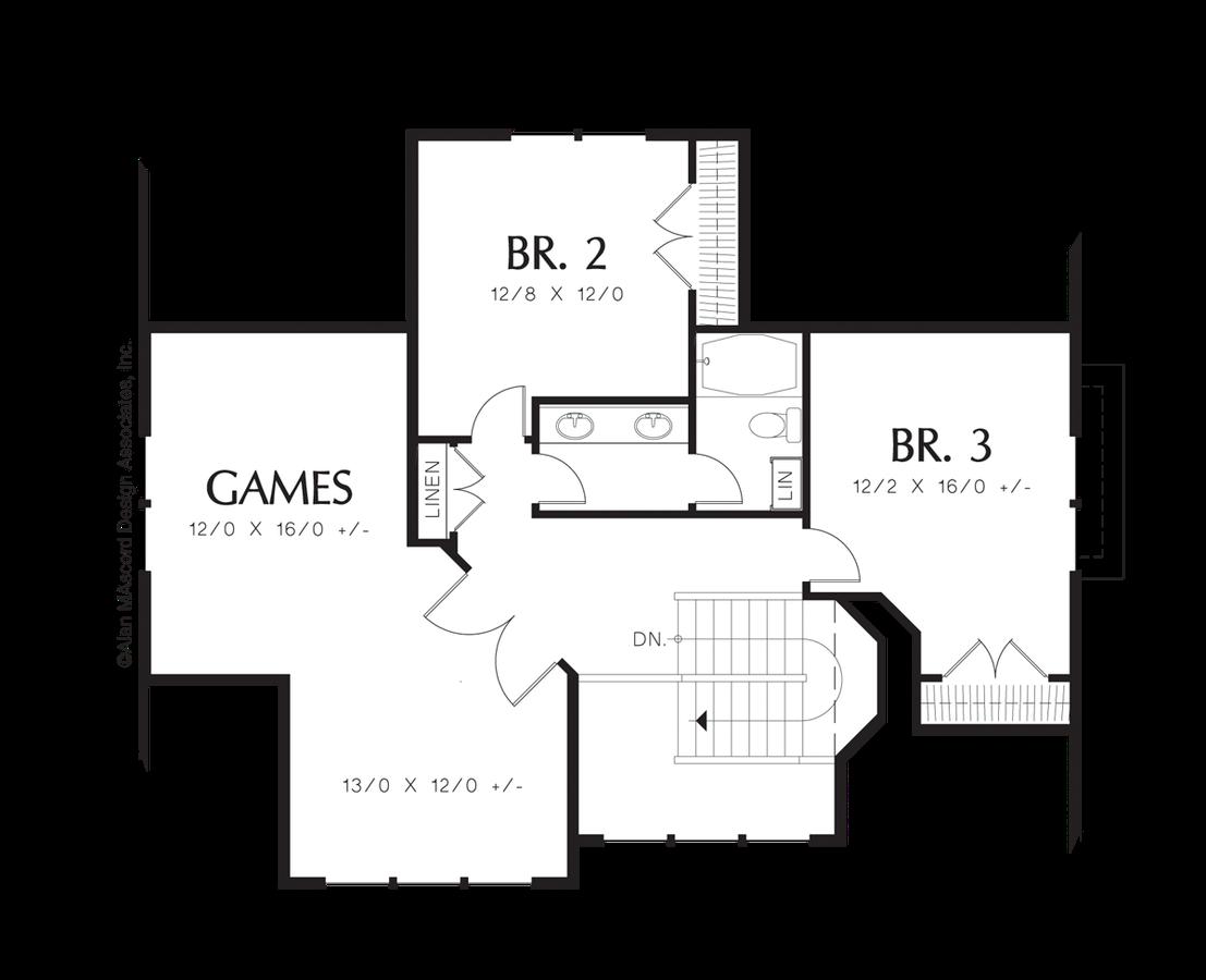 mascord house plan 22135 the greensburg