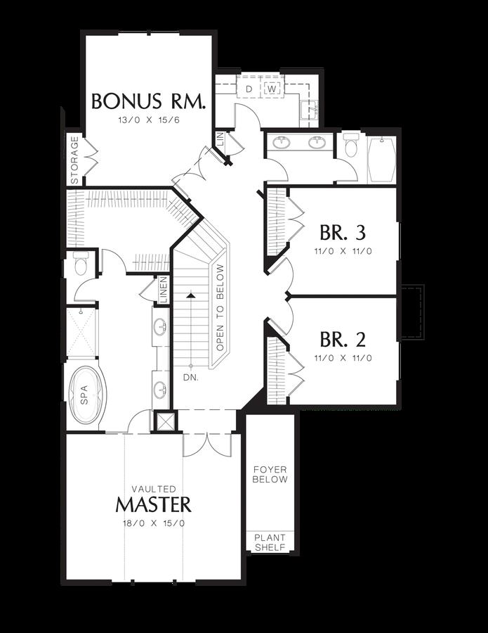 Craftsman house plan 22137b the webster 2533 sqft 3 for Flow wall 48 bonus set