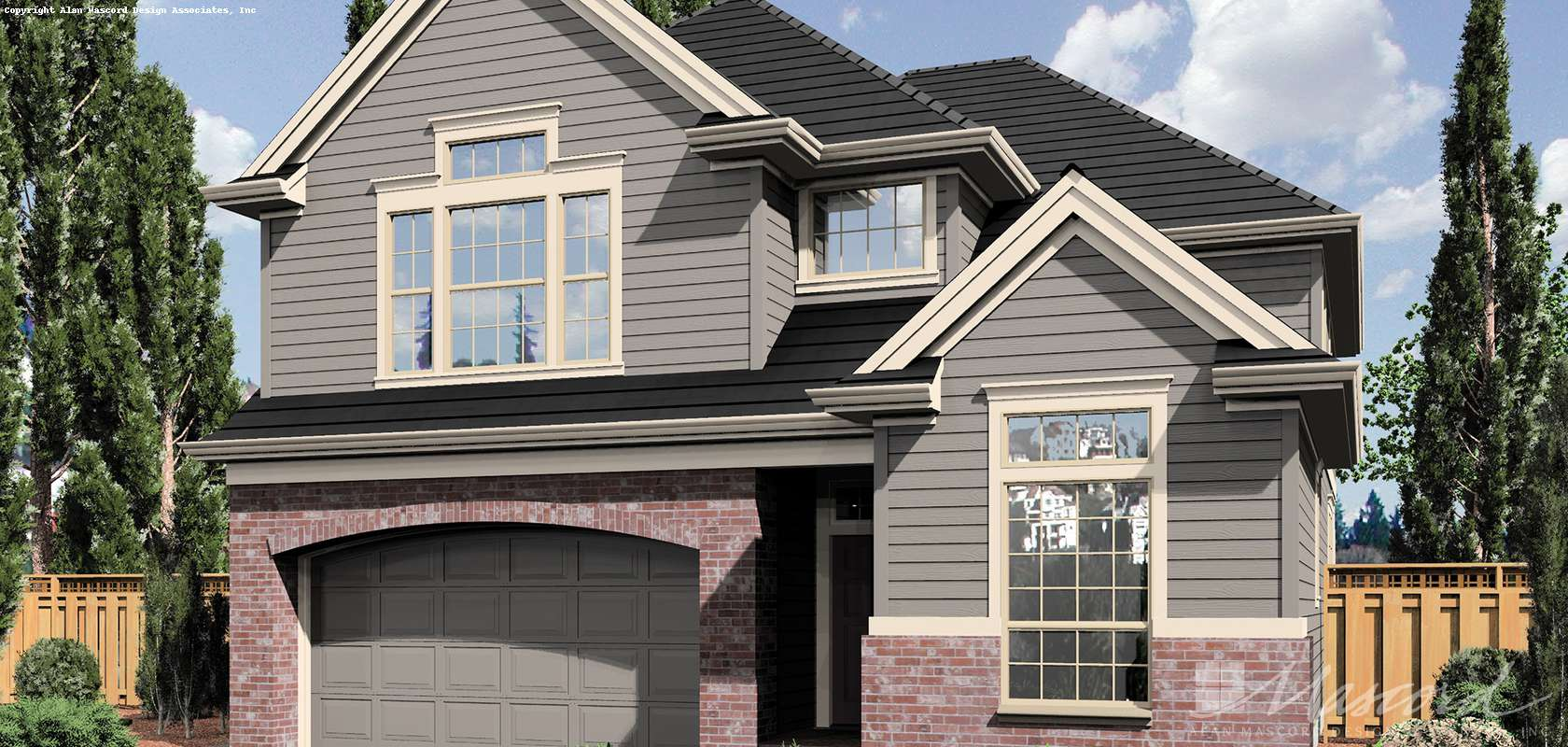 Mascord House Plan 22137B: The Webster