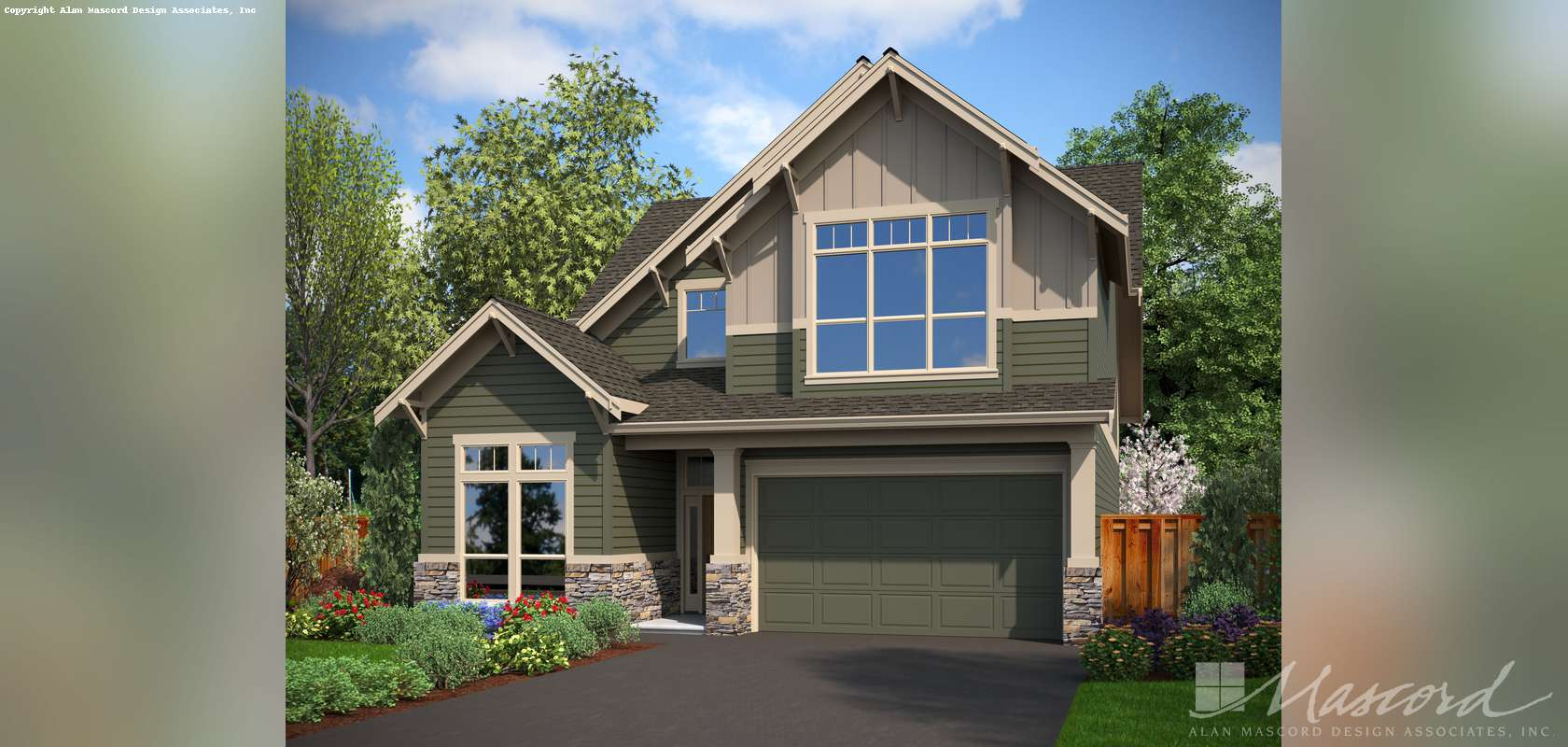 Mascord House Plan 22137F: The Mansfield