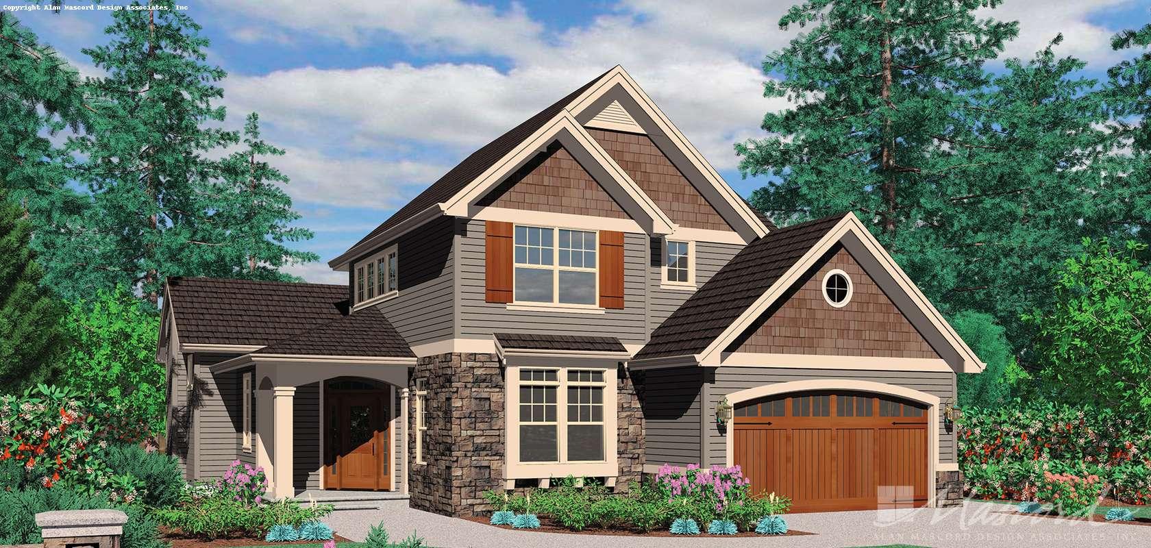 Mascord House Plan B22138A: The Kenesaw