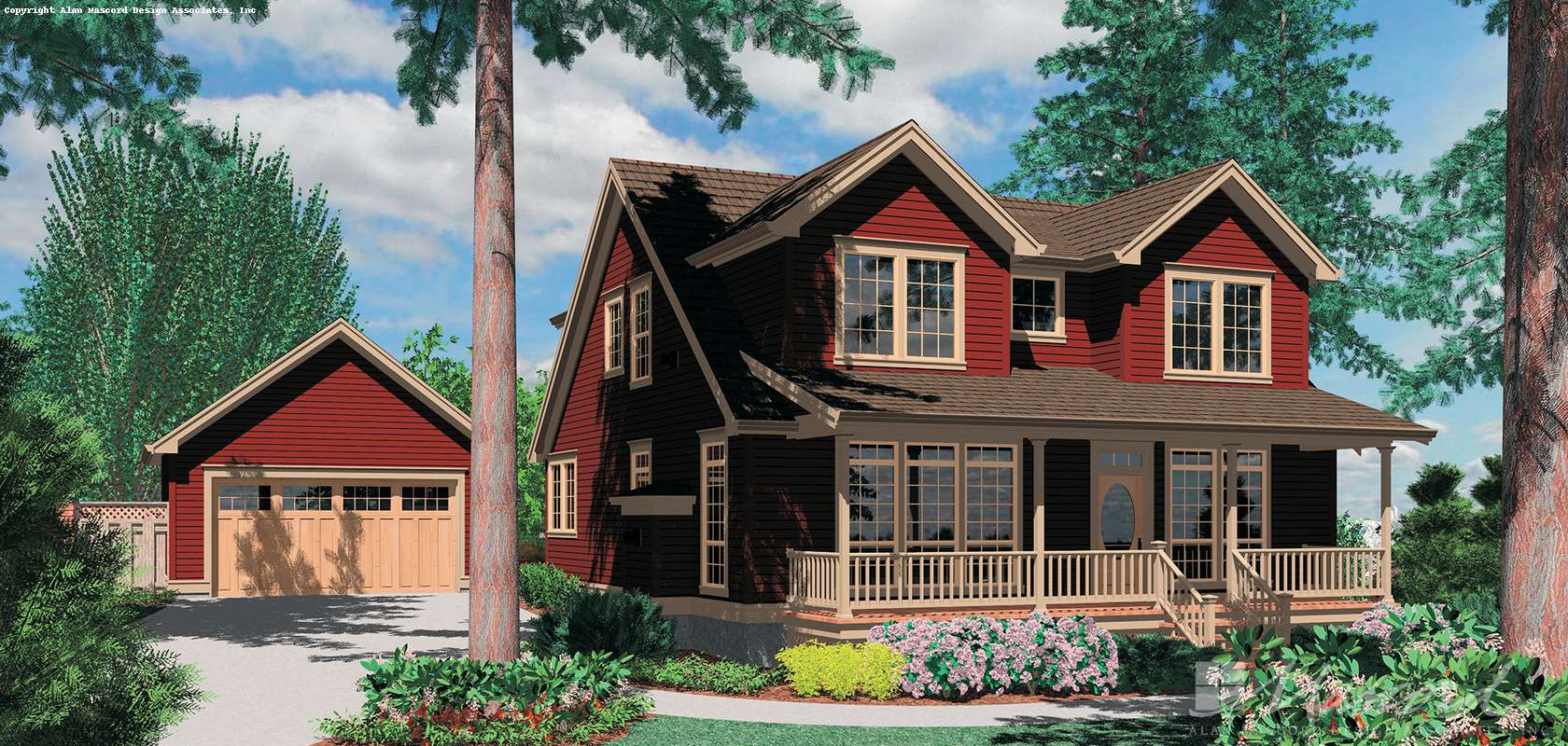 Mascord House Plan 22139: The Laurel