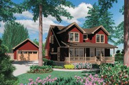 Front Rendering of Mascord House Plan 22139 - The Laurel