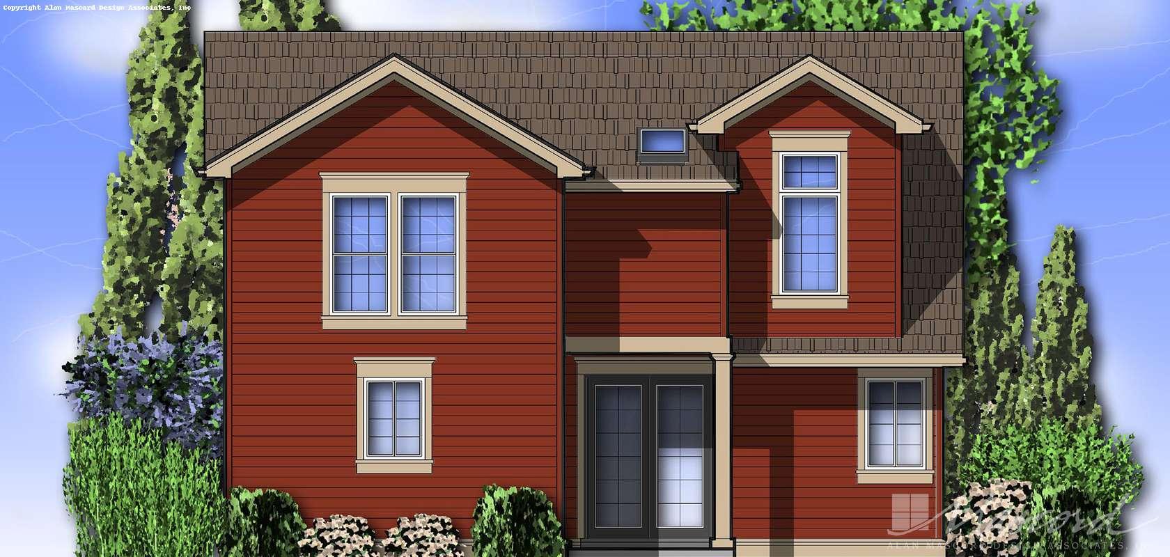 Mascord House Plan 22139: The Laurel
