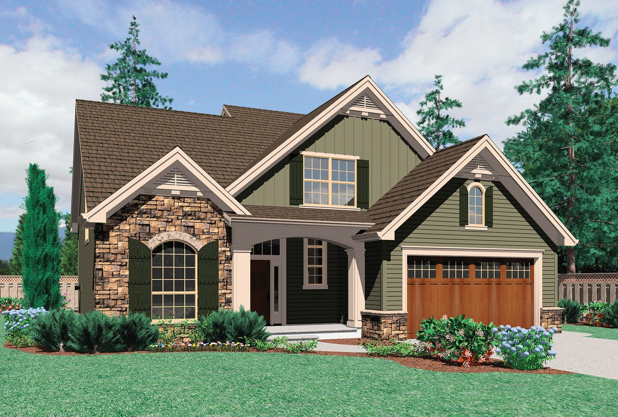 House plan 22140 the landon for Simple house plans with garage