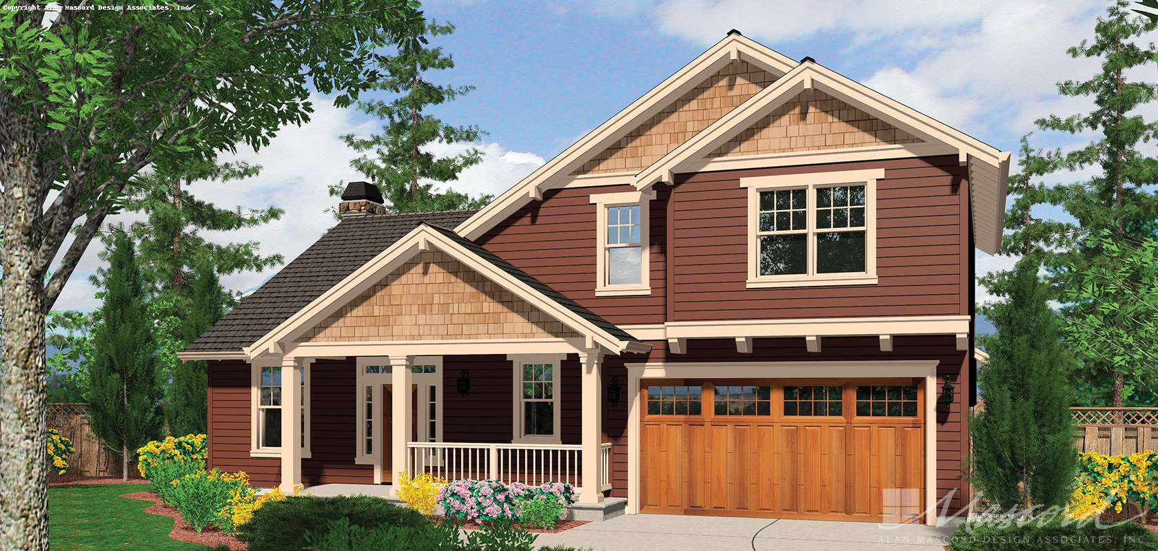 Mascord House Plan 22143: The Treynor