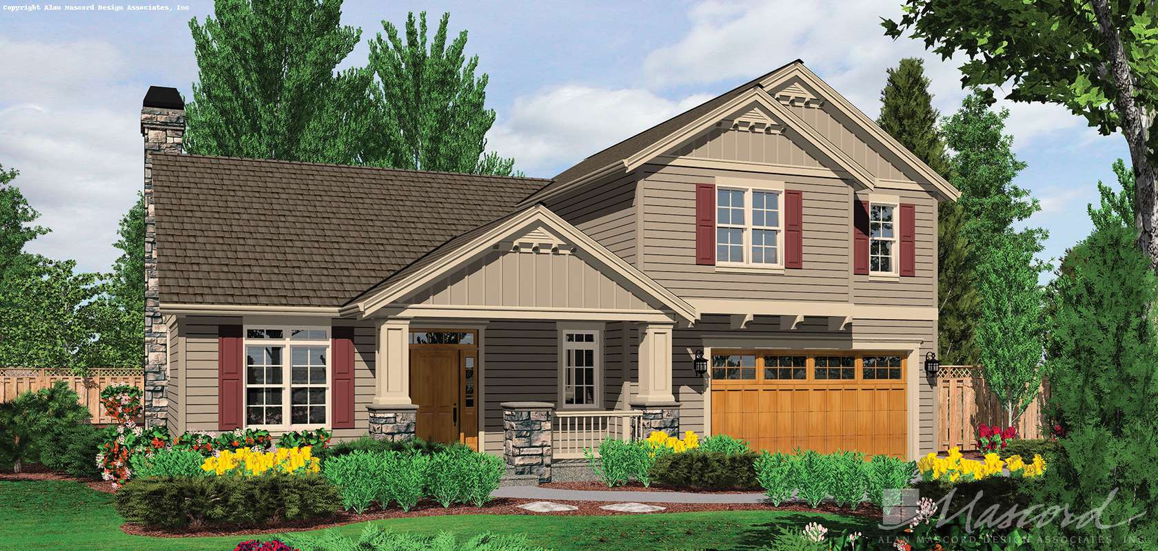 Mascord House Plan 22143A: The Roland