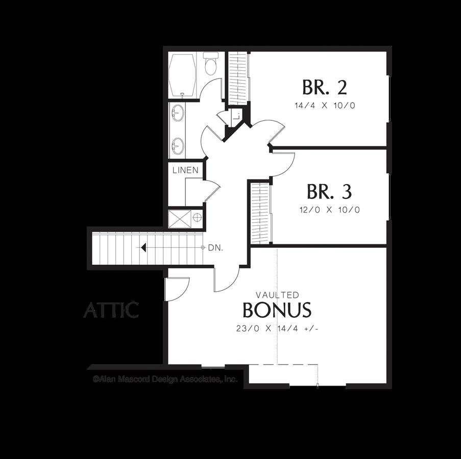 Craftsman House Plan 22143 The Treynor 2296 Sqft 3