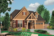 Front Rendering of Mascord House Plan 22144 - The Drake