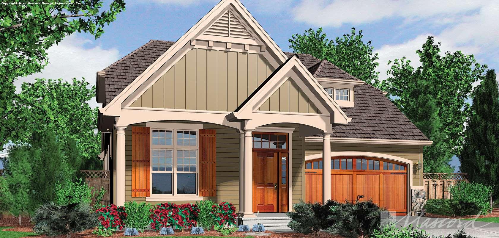 Mascord House Plan B22144A: The Seneca