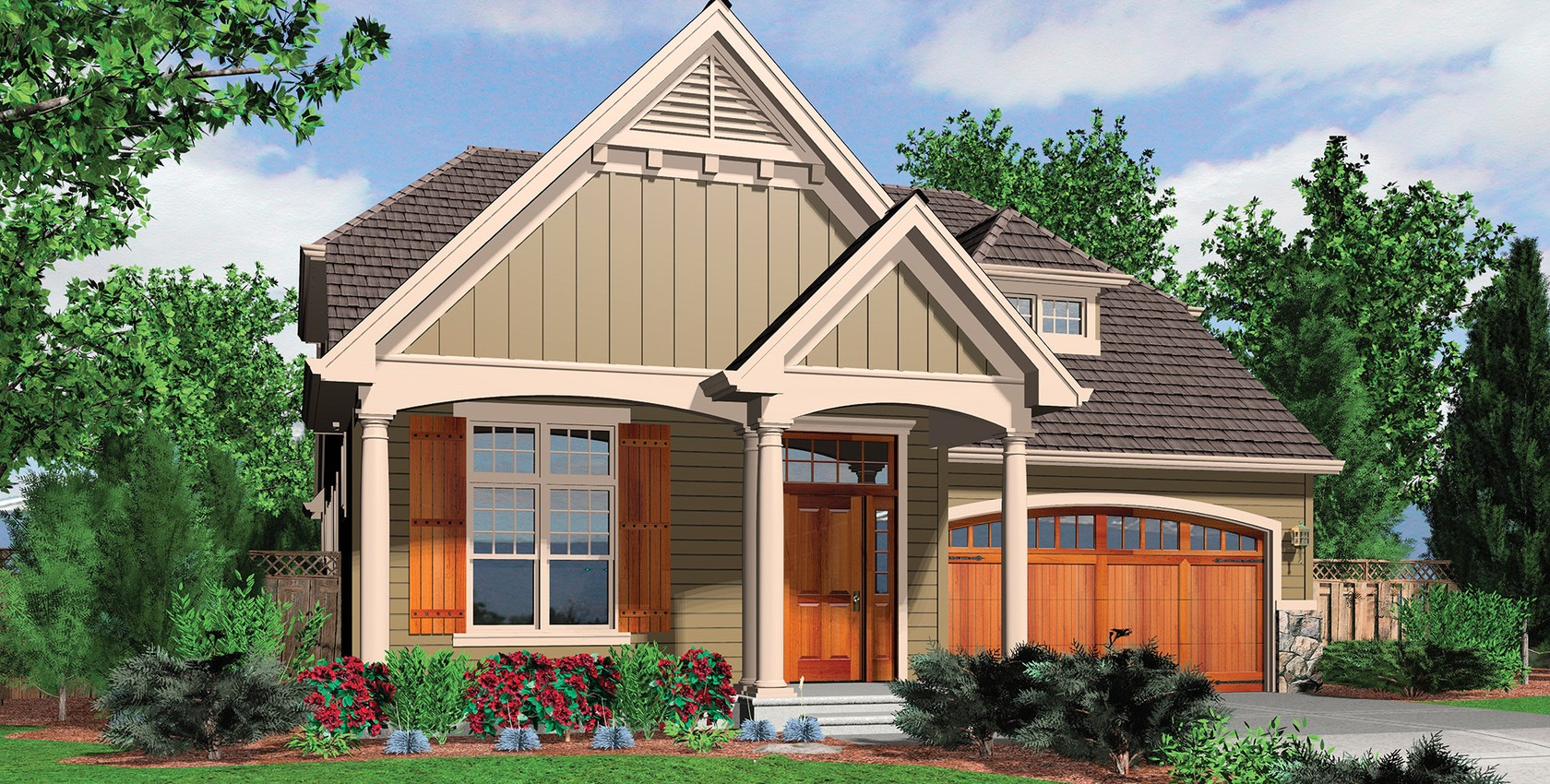 Mascord house plan 22144a the seneca for Seneca custom homes