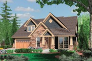 Front Rendering of Mascord House Plan 22145 - The Ackley