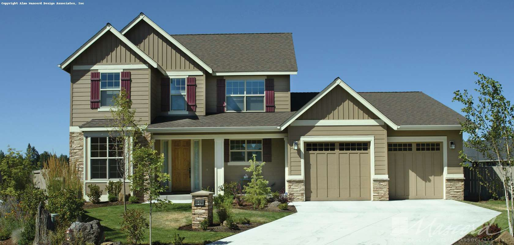 Mascord House Plan 22146A: The Dellwood