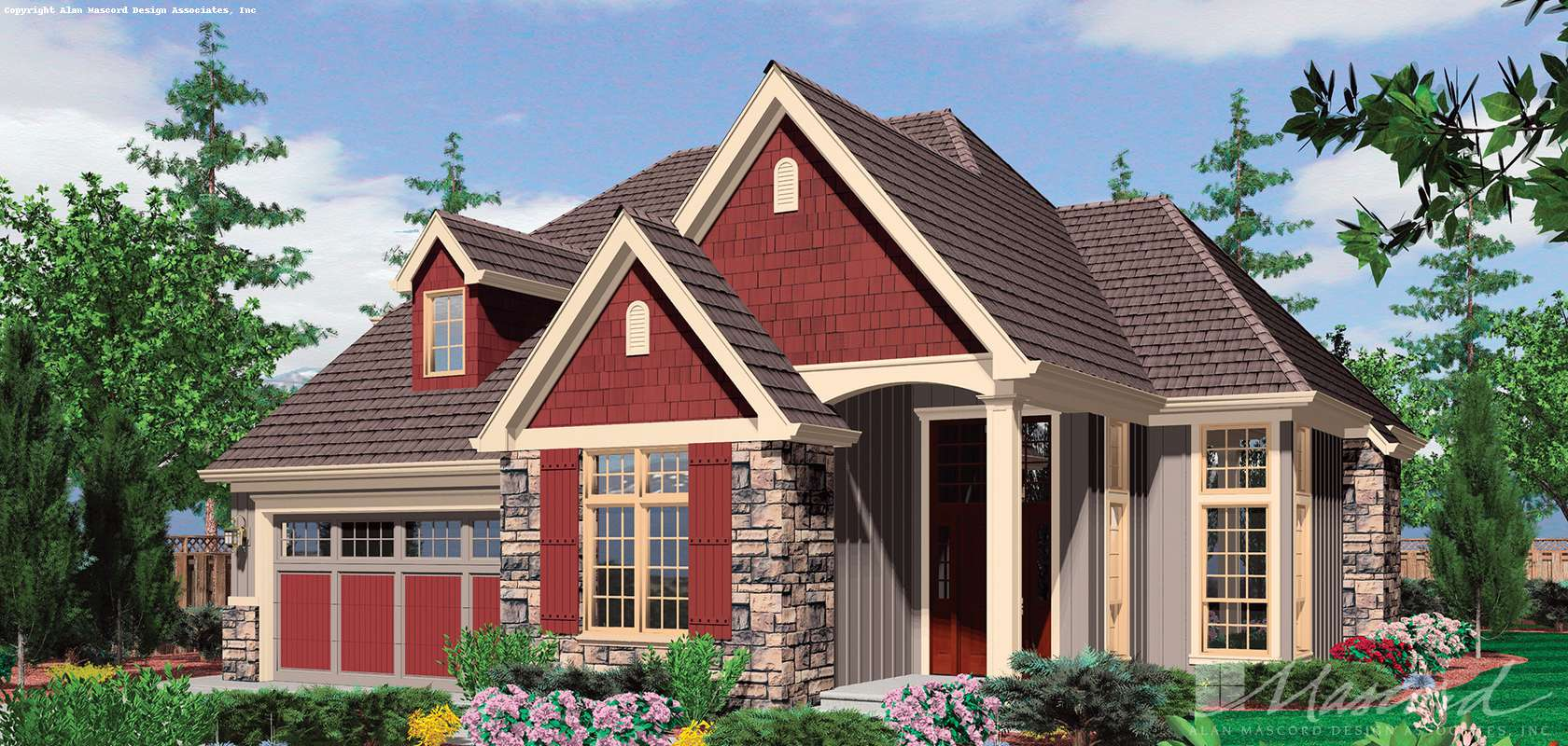 Mascord House Plan B22148: The Sentinel