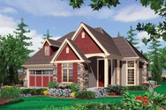 Front Rendering of Mascord House Plan 22148 - The Sentinel