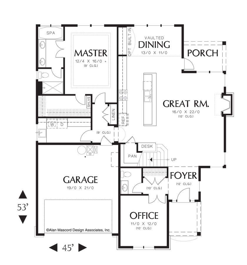 Cottage house plan 22148 the sentinel 2080 sqft 3 beds for French cottage floor plans