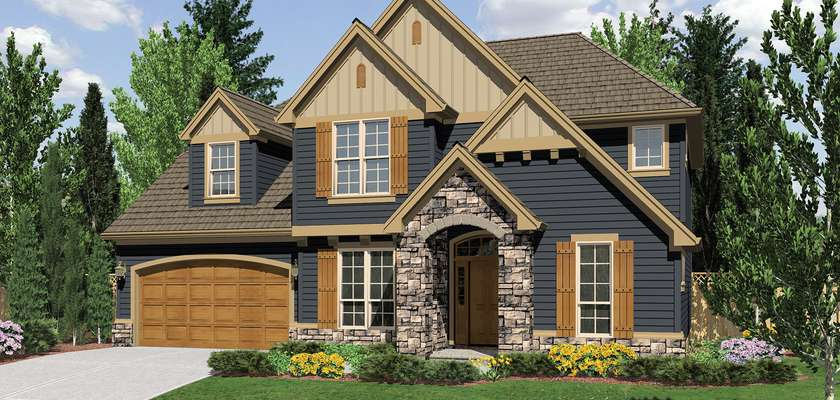 Mascord House Plan 22151A: The Dearborn