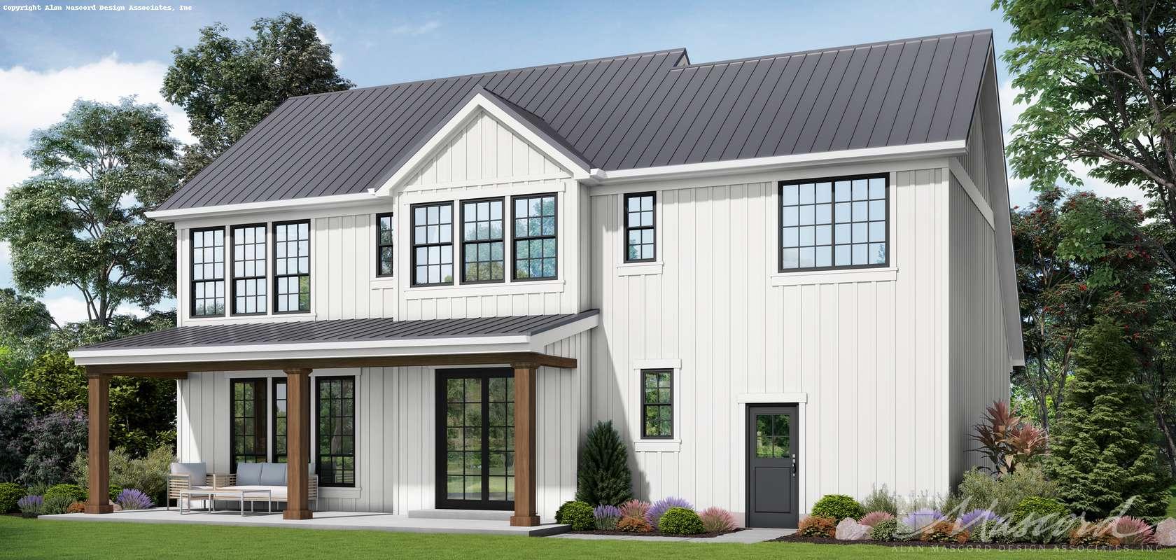 Mascord House Plan 22151D: The Josephine