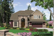 Front Rendering of Mascord House Plan 22152 - The Logan