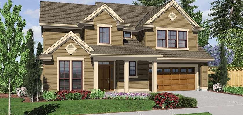 Mascord House Plan 22152A: The Morgan