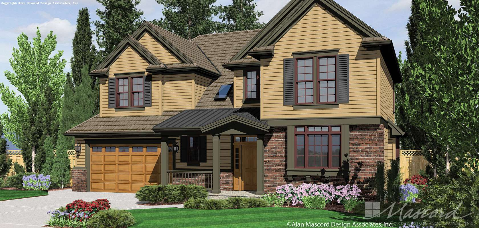 Mascord House Plan 22154A: The Montgomery