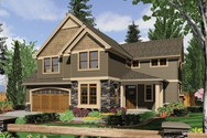 Front Rendering of Mascord House Plan 22155 - The Gaylord
