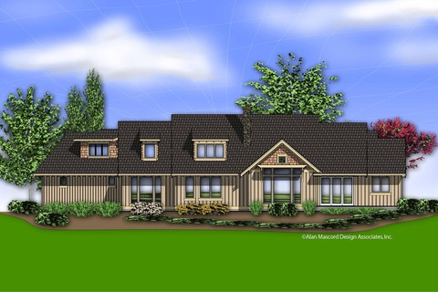 Image for Halstad-Lodge Style Plan with Generous Master and Kitchen-3892