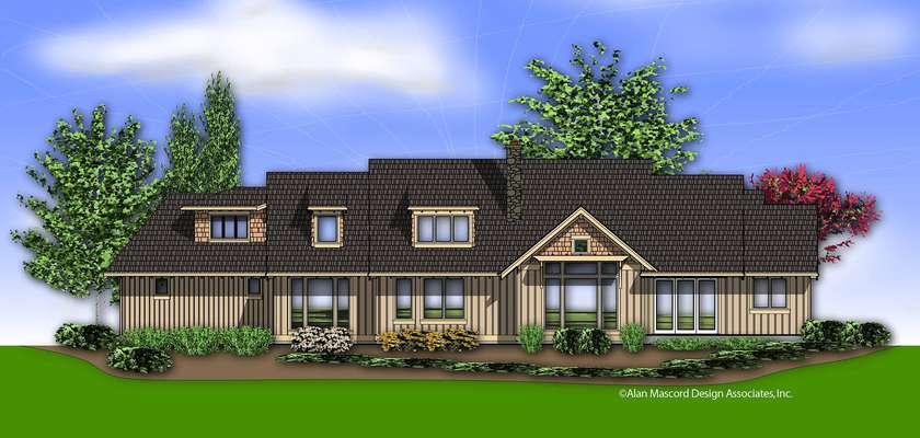 Mascord House Plan 22156: The Halstad