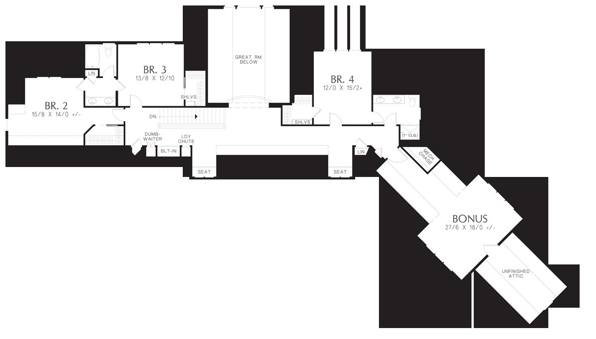 mascord house plan 22156e the deschutes image for deschutes spacious mountain home with luxurious master suite upper floor plan