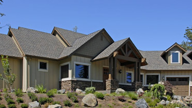 Image for Halstad-Lodge Style Plan with Generous Master and Kitchen-Front Exterior