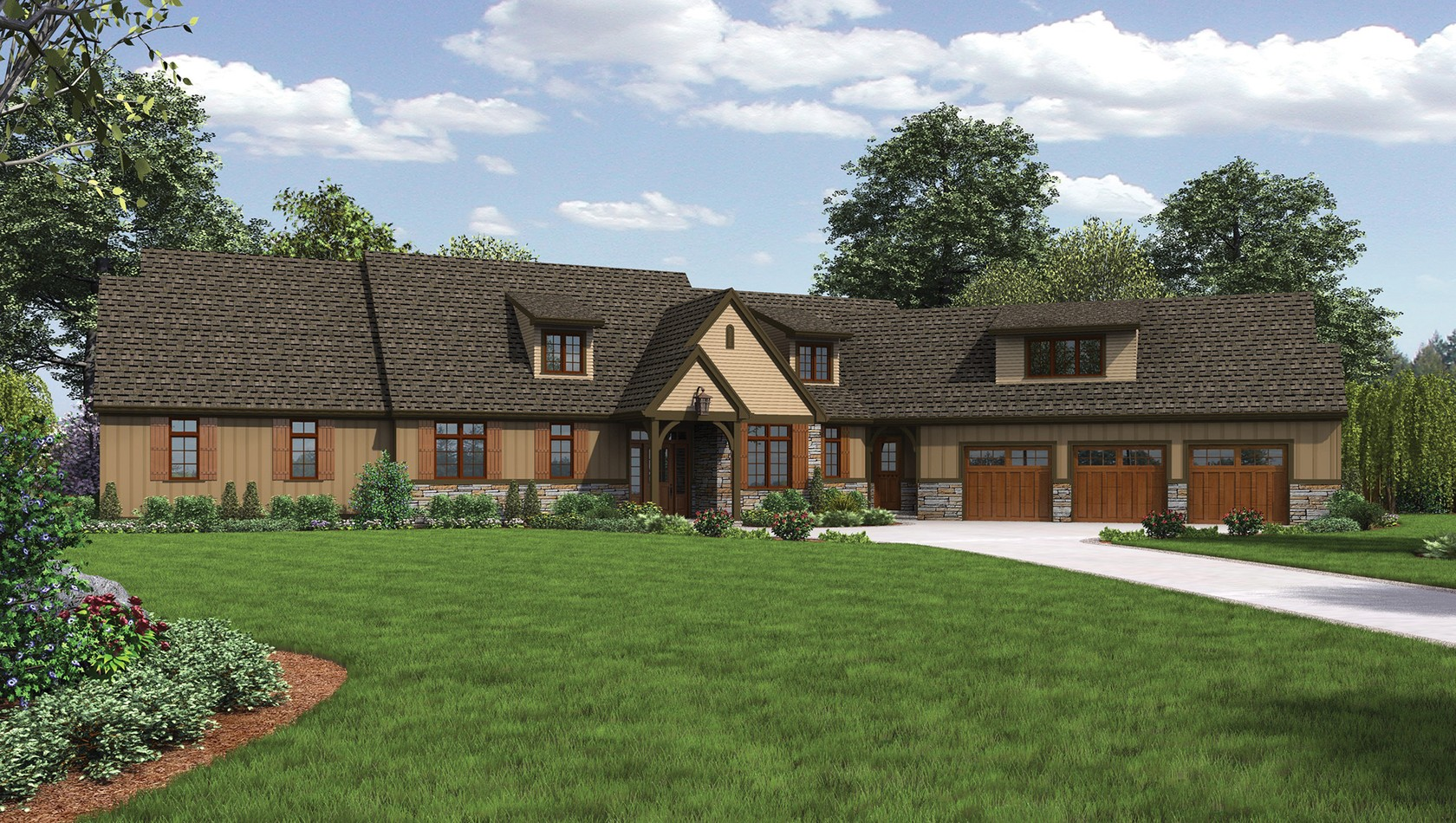 Mascord House Plan 22156E: The Deschutes