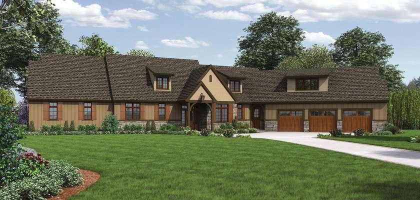 Mascord House Plan 22156E: The Deschutes