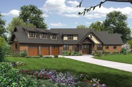 Front Rendering of Mascord House Plan 22156F - The Abbeywood