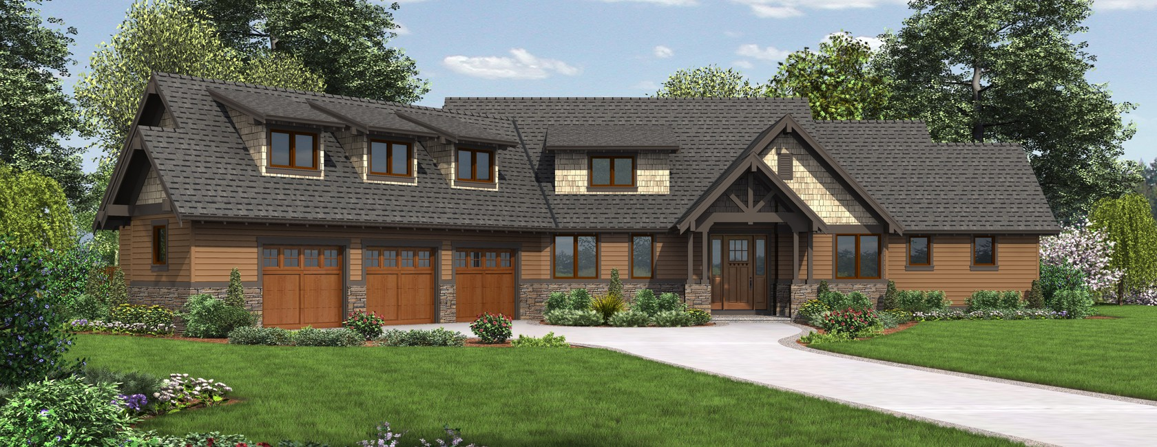 The abbeywood craftsman home plan allows for work rest Rest house plan