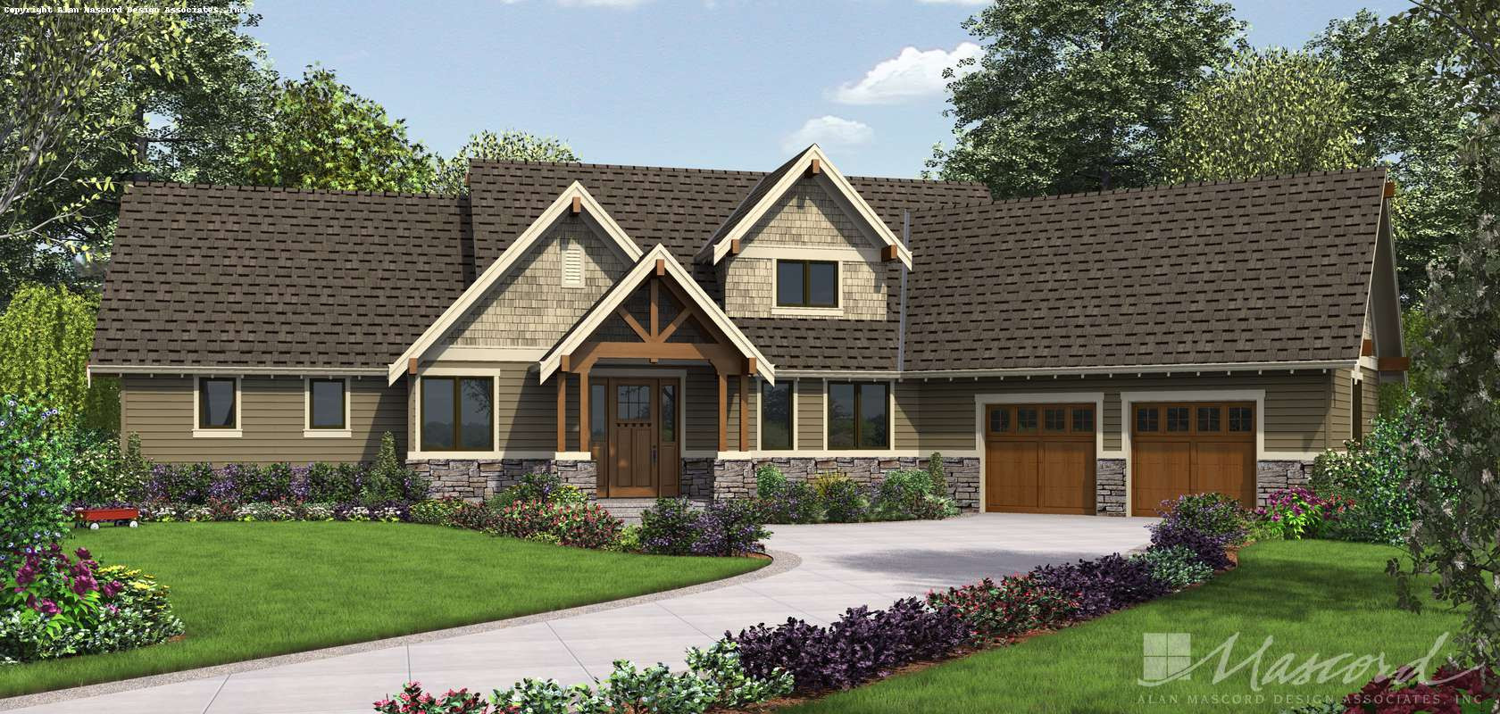 Mascord House Plan 22156FA: The Ferguson
