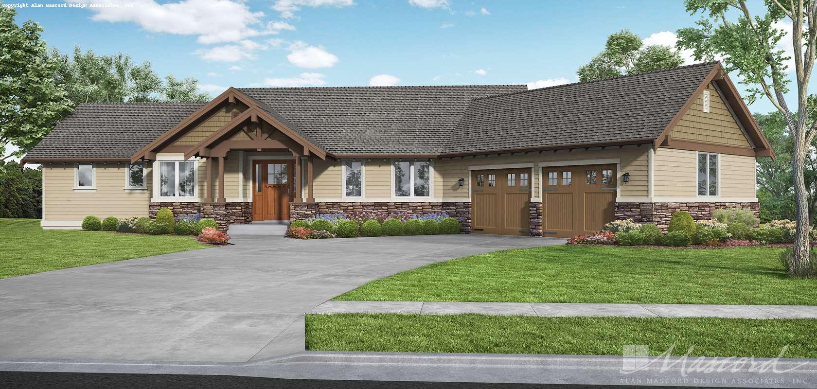 Mascord House Plan 22156G: The Blythewood