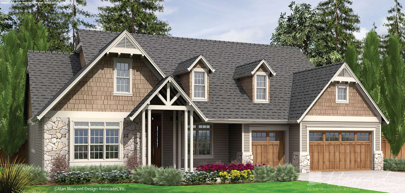 Mascord House Plan 22157: The Alton