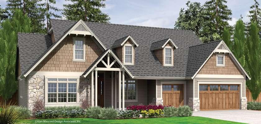 Mascord House Plan 22157: The Alton