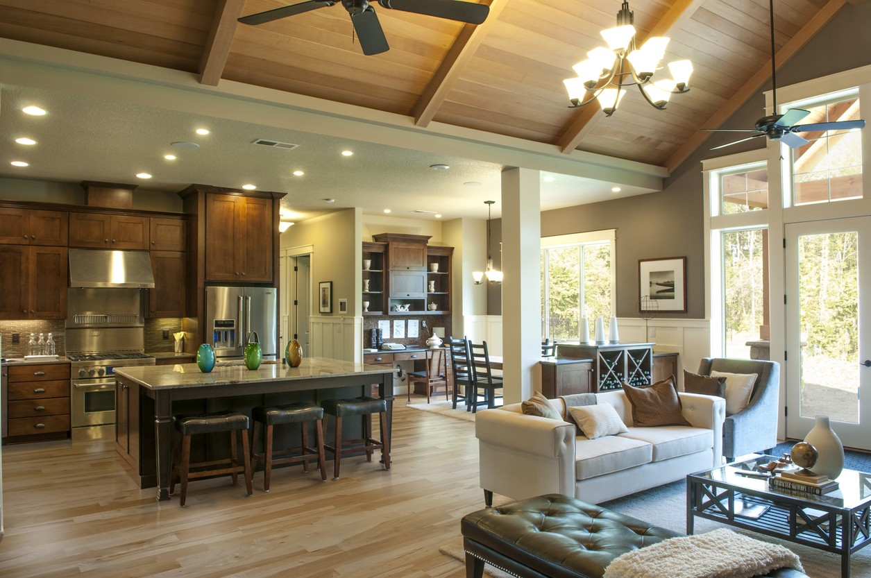 vaulted ceiling great room house plans