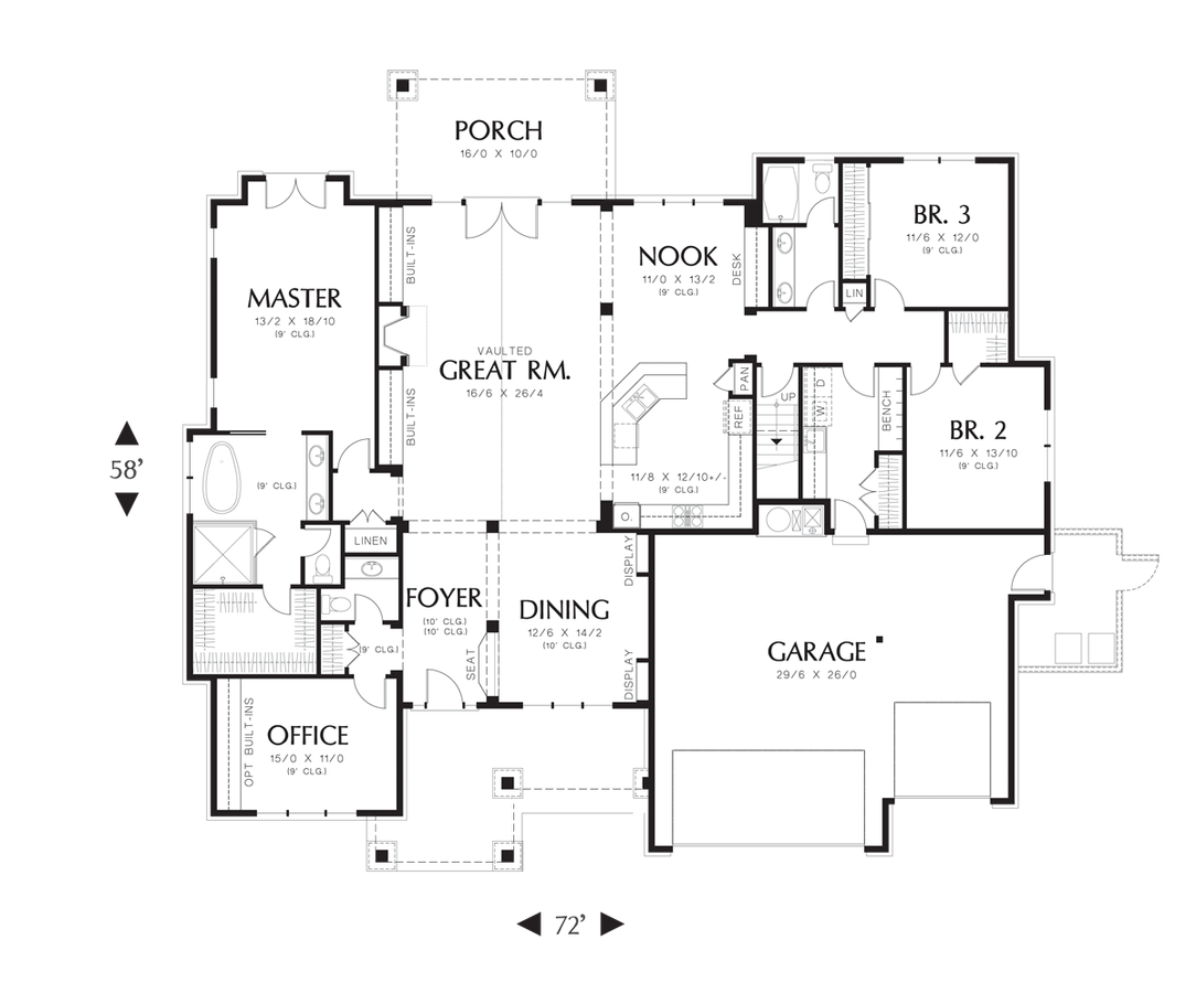 Image for Ashby-Lodge with Large Master Suite and Open Floor Plan-Main Floor Plan
