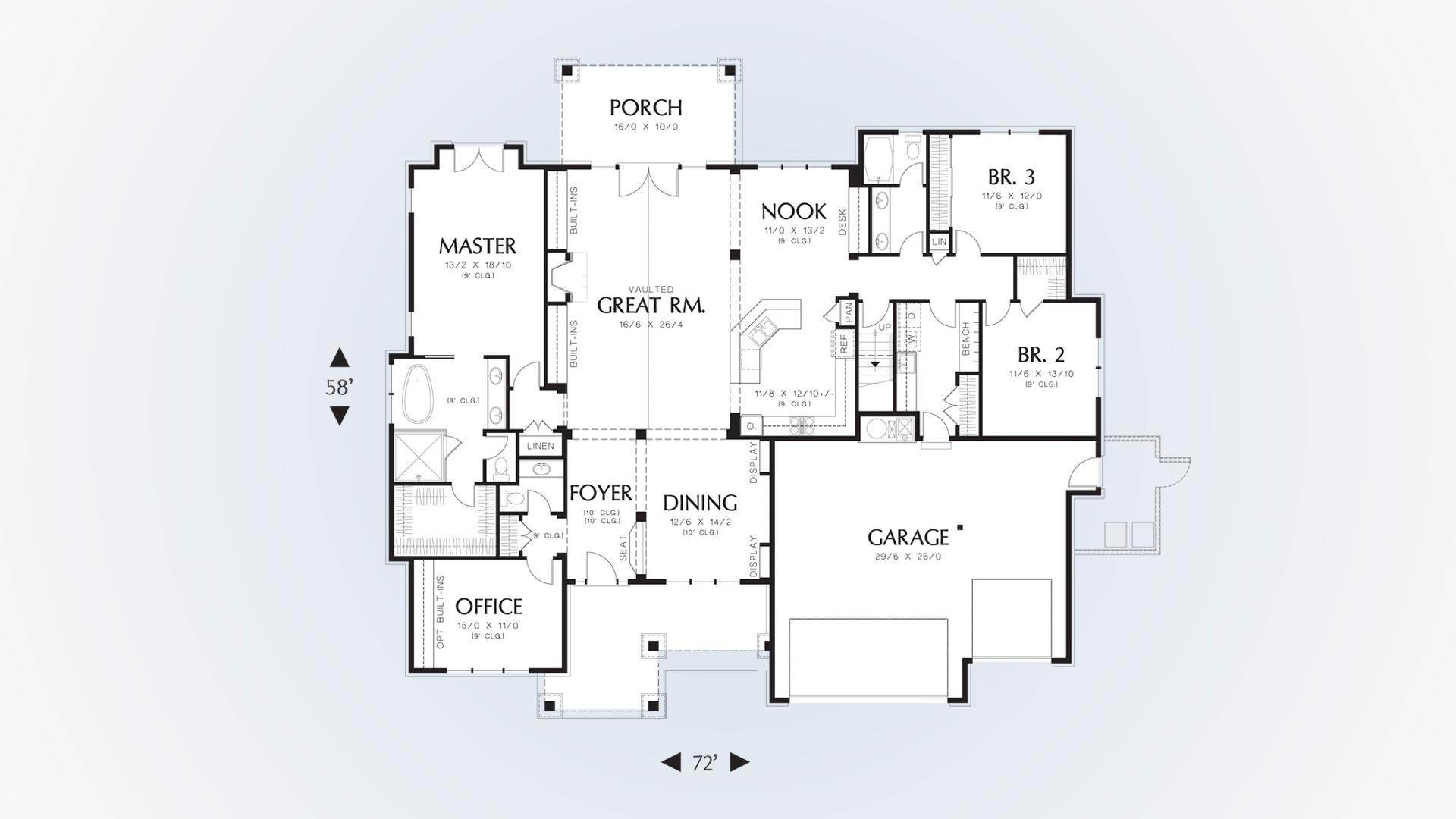 mascord house plan 22157aa the ashby
