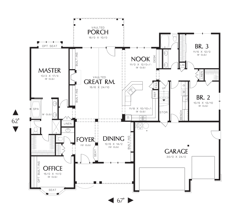 mascord house plan 22157a the ravenwood